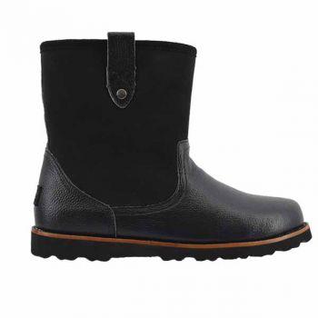 Мужские ботинки Ugg Mens Stoneman Black Leather Suede