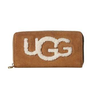 Портмоне Ugg Honey Sheepskin Wallet Chestnut