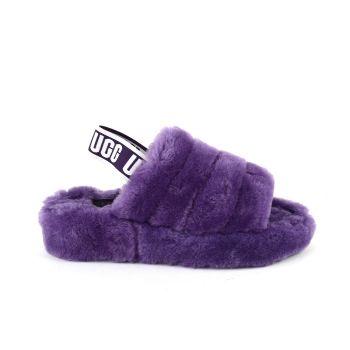 Женские тапочки Ugg Fluff Yeah Slide Violet Bloom