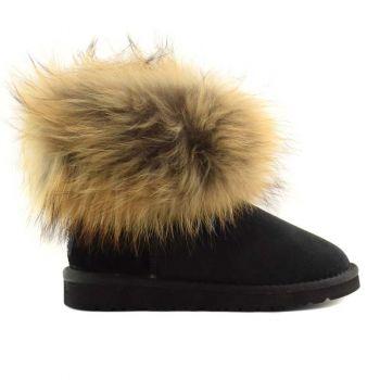 Женские угги Ugg Fox Fur Black