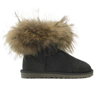 Женские угги Ugg Fox Fur Grey
